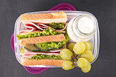 lunch box,sandwich school lunch