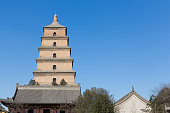 Giant Wild Goose Pagoda in southern Xi'an, Shaanxi province, China