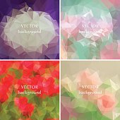 Geometric flowers abstract polygonal elements
