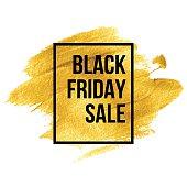 Black Friday  Designs on gold blob. Vector illustration