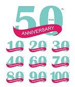 Template Logo 30th Anniversary Vector Illustration