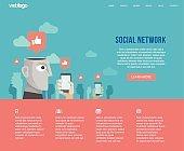 Social network website layout