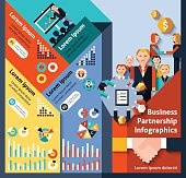 Business Partnership Infographics