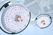 Two surgical lamps in operation room
