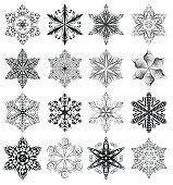 Snowflake black set