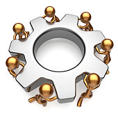 Teamwork business workforce partnership process gear job