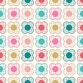 seamless geometric floral dots pattern