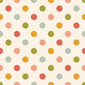 seamless polka dots textile pattern