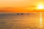 Dramatic Sunrise over the Mediterranean Sea