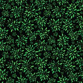 Flower Leaves Pattern Background Vector Illustration