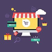 E-commerce, electronic business, online shopping, payment, deliv