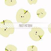 Hand drawn apples. Seamless pattern.