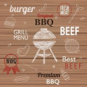 Barbecue Grill Icons and labels for any use