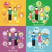 Family with children kids people concept