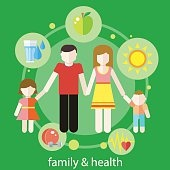 Healthy family concept
