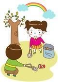 일러스트, 어린이, 환경, 에너지, 환경보호