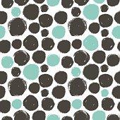 Seamless dot pattern. Dry brush.