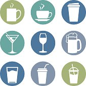 Vector Set of Drinks Icons