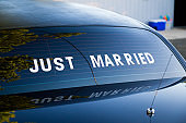 Limousine Sign Just Married