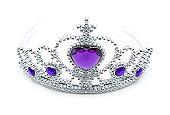 Princess tiara isolated on White background