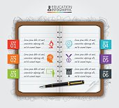 Vector note education infographic.