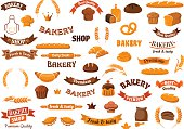 Bakery and pastry elements for design