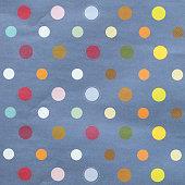 Paper textured polka dots pattern