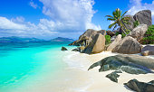 Anse Source d'Argent - beach on island in Seychelles
