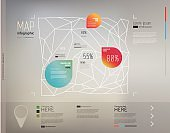 Elements of infographics with geometric structure(map structure)/Vector illustration/eps10