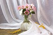 bouquet of flowers in vase