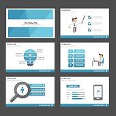 Businessman Infographic elements presentation template flat design set