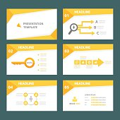 Yellow Multipurpose Presentation Templates set