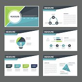 Business presentation template flat design set