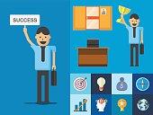 businessman goal success concept