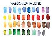 Colour Palette Comprising of Watercolour Swatches