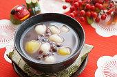 Japanese dessert, sweet red-bean soup