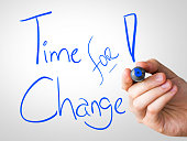Time for Change written on the Wipe board