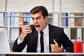 Aggressive phone talk