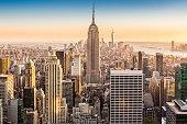 New York skyline on a sunny afternoon