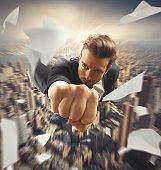 Businessman like a superhero