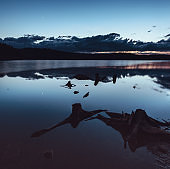 Planets Unite Over Still Lake
