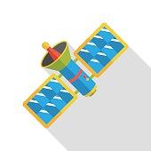 Space Satellite flat icon