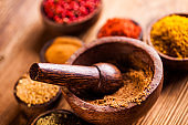 Asian seasoning, oriental theme with spices