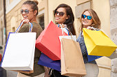 Ladies love to shopping together