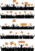 Cheering or Protesting Crowd Spain