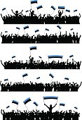Cheering or Protesting Crowd Estonia