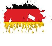 Celebrating Crowd with German flag