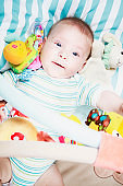 Baby on his playmat