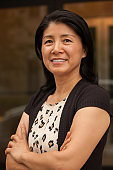 Portrait of a beautiful smiling mature Asian woman