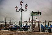 Venetian gondolas in Venice